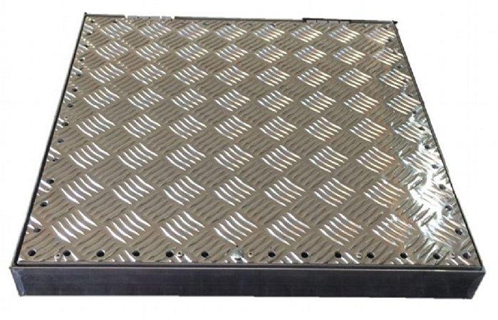 Tampa Ventilada para Casa de Máquinas Alumínio  80 x 80 cm