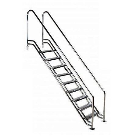 Escada para Piscina - Paris para Obesos e Fisioterápicos - 1,80 M - Aço Inox 304