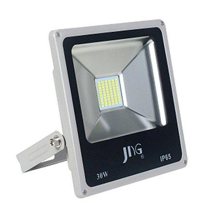 REFLETOR  LED JNG FLA1  PRETO 30W  2700 LUMENS 6500K