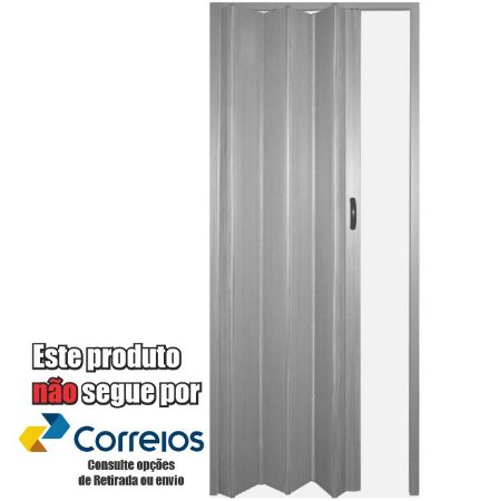 PORTA SANFONADA PERLEX PVC 84 X 210 CINZA