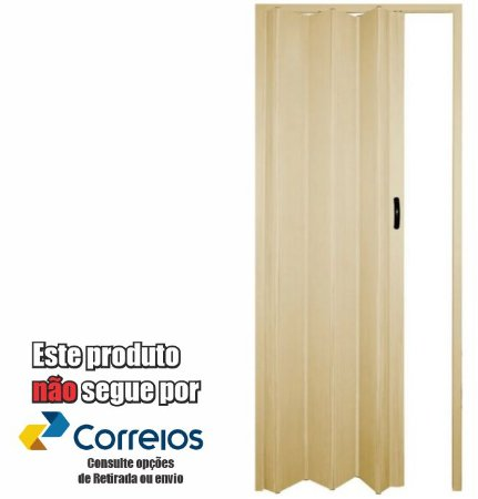PORTA SANFONADA PERLEX PVC 96 X 210 BEGE