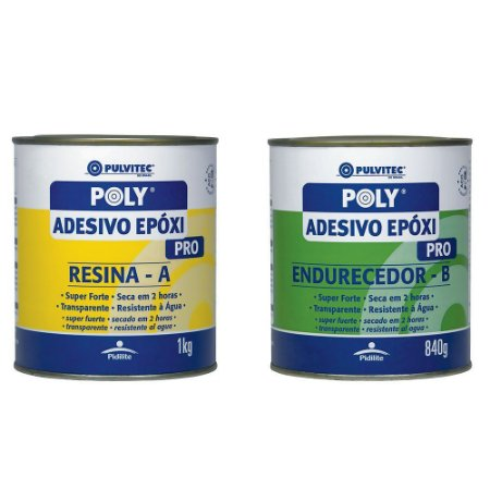 ADESIVO EPOXI PULVITEC 2H 1,8KG RESI+END