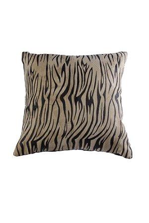 Capa para Almofada de Couro com Estampa Zebra 40cmx40cm Vênus Victrix