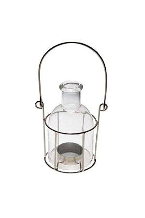 Lamparina Decorativa de Vidro Suporte Metal Vênus Victrix