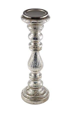 Castiçal de Vidro 40cmx13cm Vênus Victrix