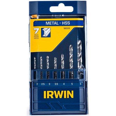 BROCA A.R. IRWIN 2,0 a 6,0 mm KIT C/7 Peças