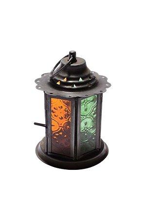 Lanterna Decorativa de Metal e Vidro 12cmx8,5cm Vênus Victrix