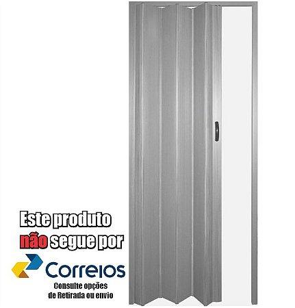 PORTA SANFONADA PERLEX PVC 96 X 210 CINZA