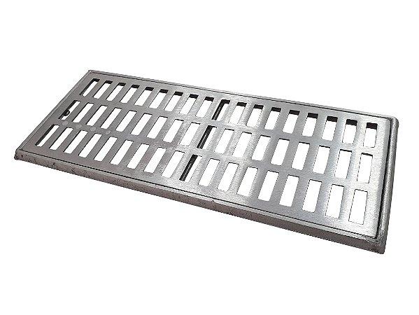 Conjunto Grelha e Porta Grelha Alumínio 20 x 50 cm
