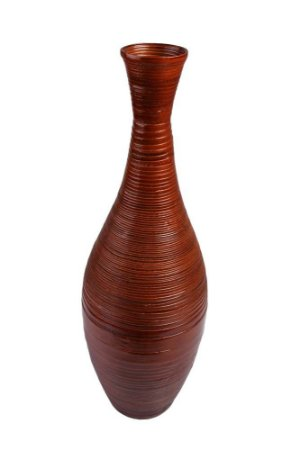 Vaso Decorativo de Madeira 72cmx22cm Vênus Victrix