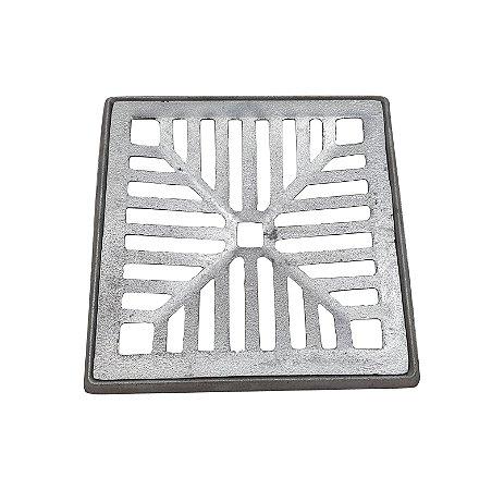 Conjunto Grelha e Porta Grelha Alumínio 20 x 20 cm Concova