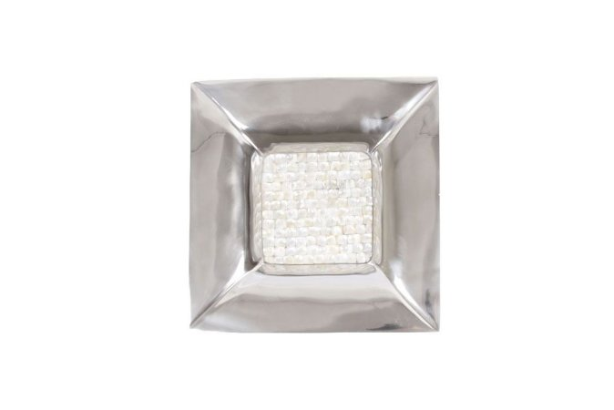 Prato de Alumínio e Madrepérola 35cmx35cmx5cm Vênus Victrix