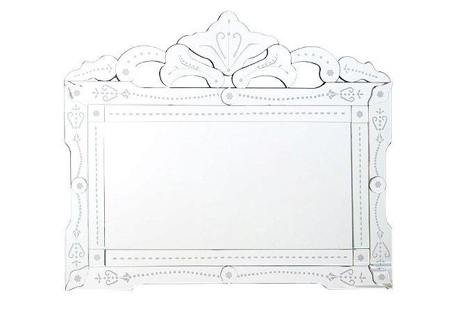 Espelho Veneziano Bisotado Retangular 100cmx83cm Vênus Victrix