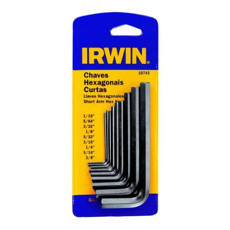 CHAVE ALLEN IRWIN 1/16a3/8 KIT 09 peças