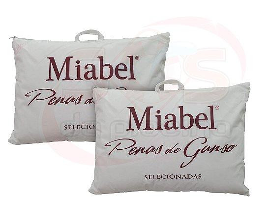 Kit travesseiro Casal Miabel Tradição Firme Penas de Ganso 50x70