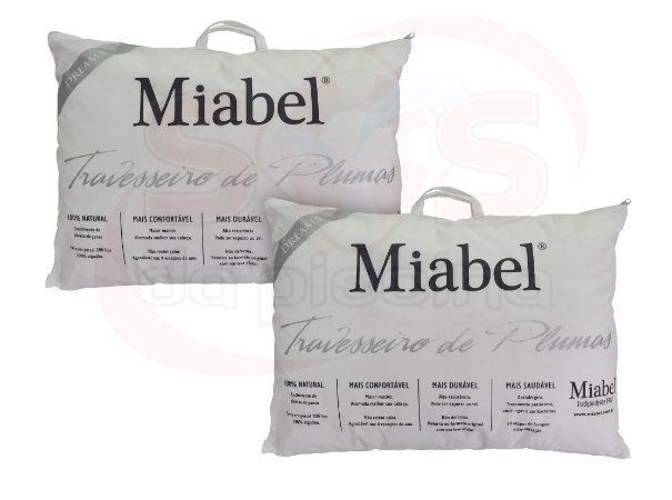 Kit travesseiro Casal Miabel Dreams Plumas de Ganso 50x70
