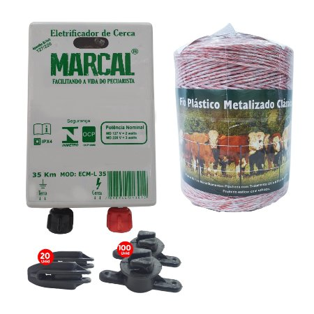 Kit Eletrificador Rural Cerca Eletrica Gado Completo - 500 M