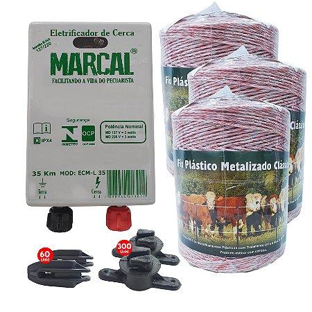 Kit Eletrificador Rural Cerca Eletrica Gado cavalos  Completo - 1500 M