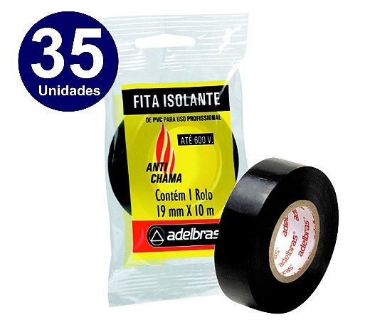 35 UNIDADES  - FITA ISOLANTE ADELBRAS 10 METROS X19MM