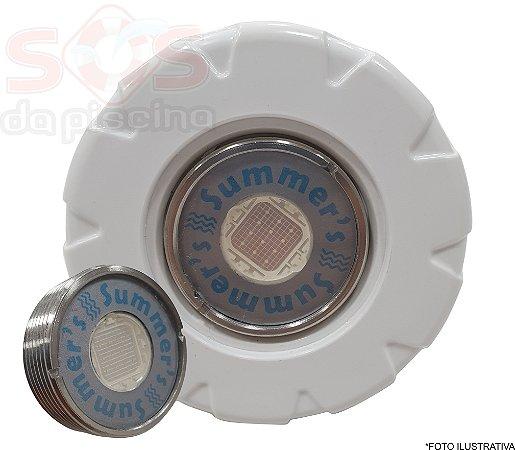 Refletor INOX Power Slim RGB 13W - com Dispositivo