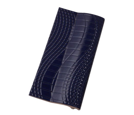 Borda Pastilhado Azul Brilhante   -12 x 25 Cm