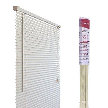 PERSIANA HORIZONTAL PVC BEGE L120CM X A160CM X 25MM
