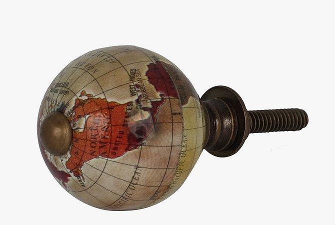 Puxador Globo mapa D 3cm x P 3,8cm