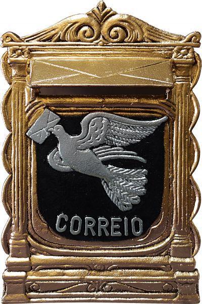 CAIXA DE CORREIO EM ALUMÍNIO FUNDIDO P/ CORRESPONDÊNCIA JORNAL REVISTA