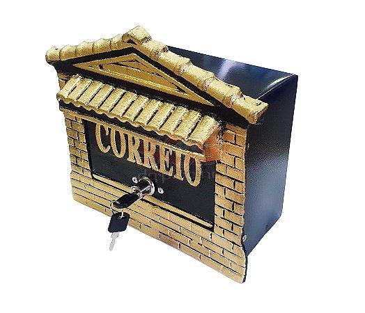 caixa de correio abertura frontal alumínio fundido - N 02 frontal