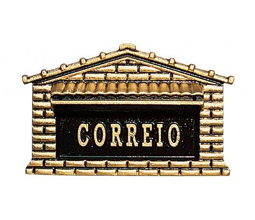CAIXA DE CORREIO EM ALUMÍNIO FUNDIDO COLONIAL CORRESPONDÊNCIA
