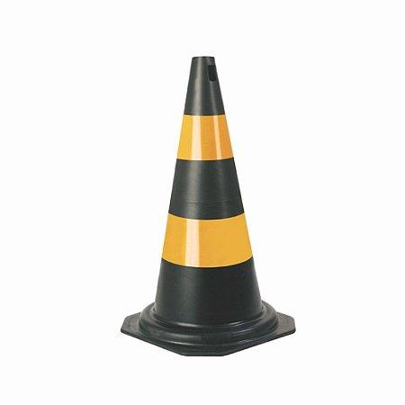 CONE FLEXÍVEL PLASTCOR PLASTICO PRETO 50cm