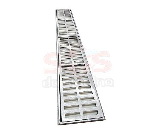 Conjunto Grelha e Porta Grelha Alumínio 15 x 100 cm