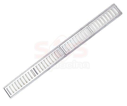 Conjunto Grelha e Porta Grelha Alumínio 10 x 100