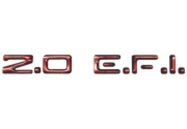 Adesivo Para Vectra, Monza, Astra, Kadett - 2.0 E.F.I. - Papel Vinil Vermelho - Cor Vermelho