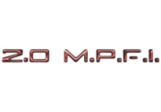 Adesivo Para Vectra, Monza, Astra, Kadett - 2.0 M.P.F.I. - Vermelho