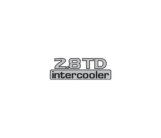 Adesivo Para Frontier - 2.8 TD INTERCOOLER