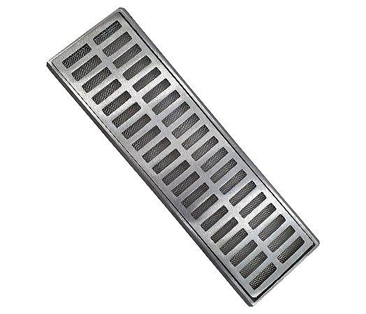 Ralo Grelha Suporte 15 x 50 Cm Alumínio C Tela Anti-Inseto