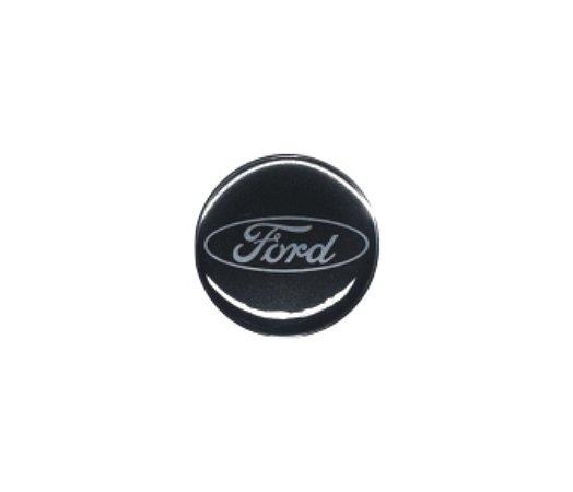 ADESIVO DE CALOTA Linha Ford  48 mm - FORD PRETO