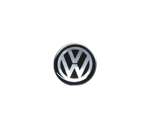 ADESIVO DE CALOTA Linha Volkswagen - VOLKSWAGEN PRETO - 55MM