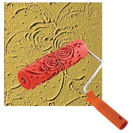 Rolo emborrachado para textura Rosas 18CM COM CABO