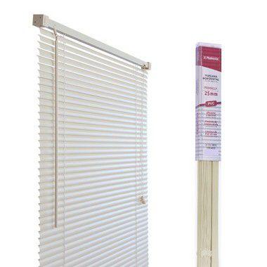 PERSIANA HORIZONTAL PVC BEGE L80CM X A130CM X 25MM