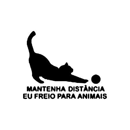 ADESIVO PARA Todos os Veículos - GATO MANTENHA DISTANCIA