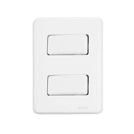 2 Interruptores Simples - Embutir - Perlex