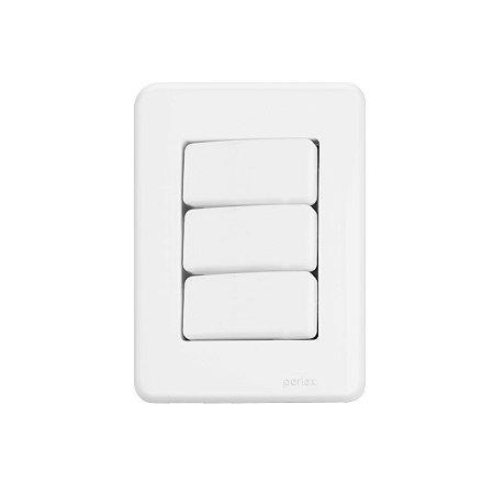 3 Interruptores Simples - Embutir - Perlex