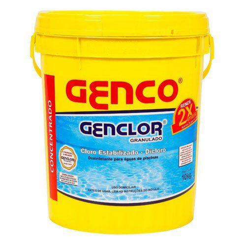 Cloro granulado - Genco - Genclor - Estabilizado - 10 KG