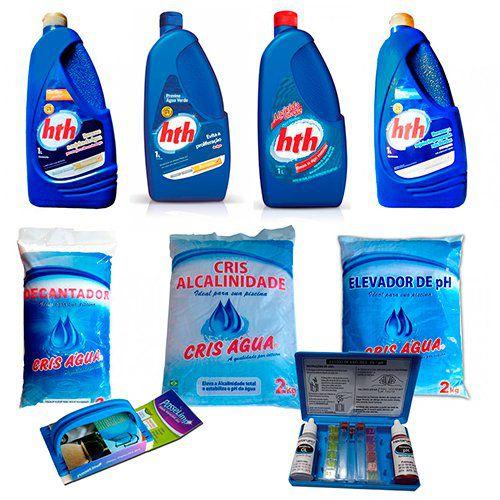 Kit Limpeza para Piscinas - HTH - Com Brinde - Tratamento de Piscinas