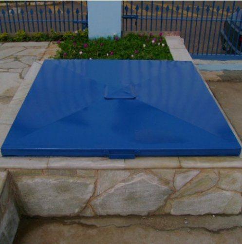 Tampa de Casa de Maquina 1,00 x 1,00 - Azul - Chapa 18