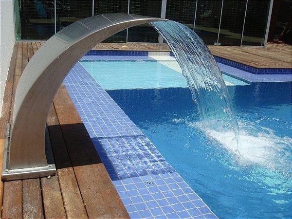Cascata para Piscinas - Aço Inox 304 - Wave Junior - 60 cm