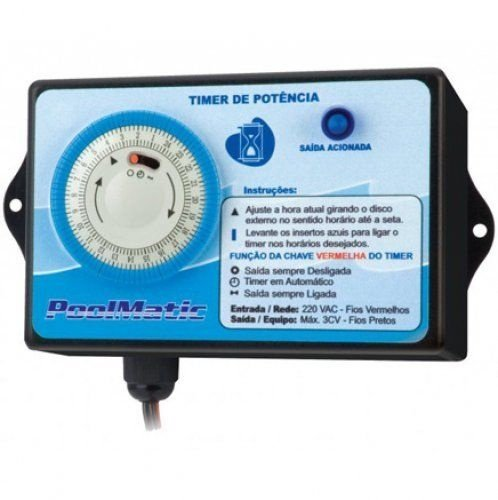 Timer Pool Matic - Pure Water - Bombas de Até 3 CV