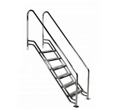 Escada para Piscina - Paris para Obesos e Fisioterápicos - 1,30 M - Aço Inox 304